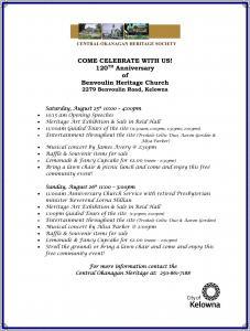 Benvoulin Church 2012 Anniversary Program