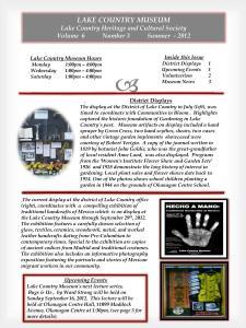 Newsletter Vol. 6 No. 3 Summer 2012