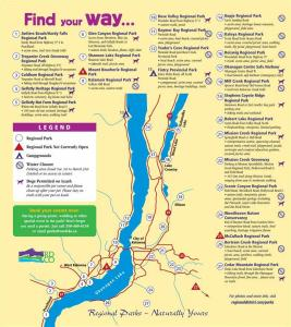 Central Okanagan Regional Parks map
