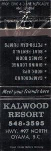 Matchbook cover from Kalwood Inn