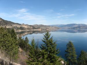 Kalamalka Lake viewed north from Crystal Waters Road