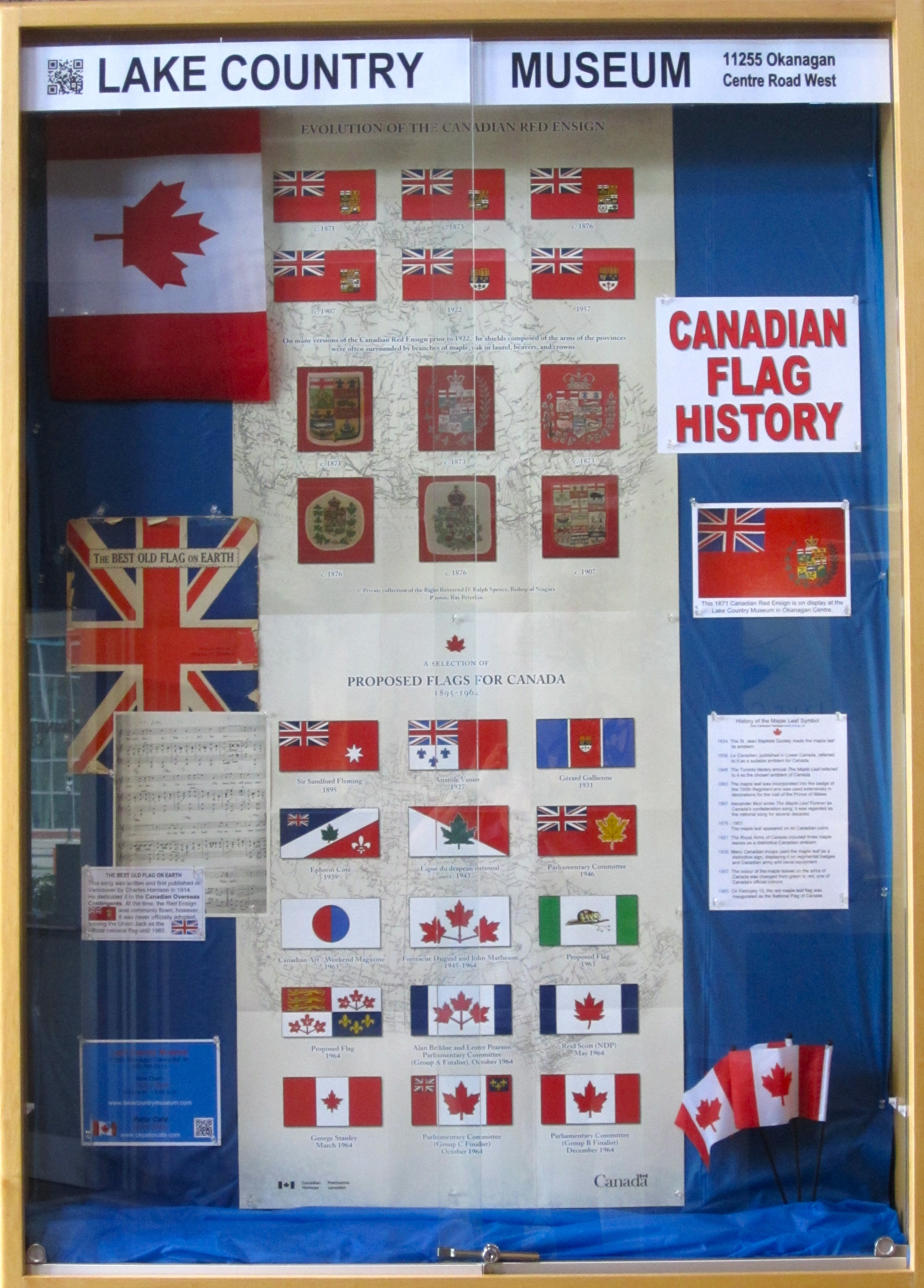 Canadian Flags Canadian Flag History Display
