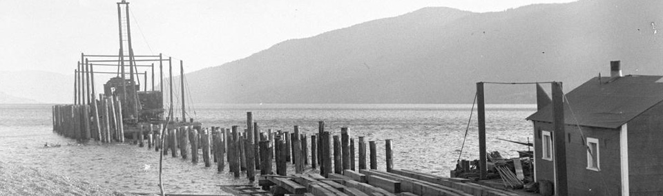 Ferry slip at Okanagan Centre
