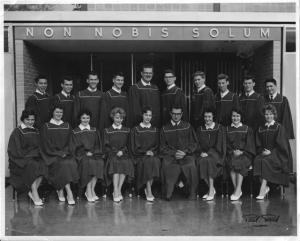Graduation class of 1962. George Elliot High School