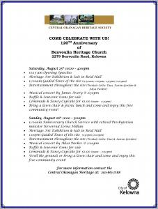 Benvoulin Church 2012 Anniversary Program