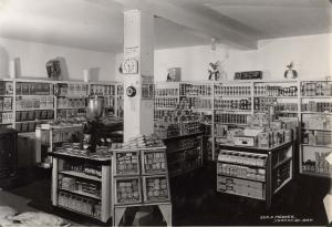 Interior of the Smith General Store in Oyama