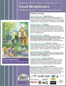 2013 Heritage Week Poster