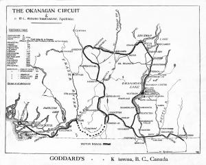 Okanagan Circuit, Goddard's Spring, 1926 B.C. Register