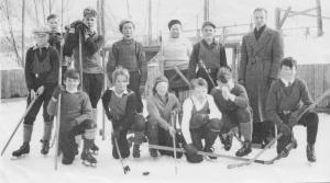Oyama boys' hockey team