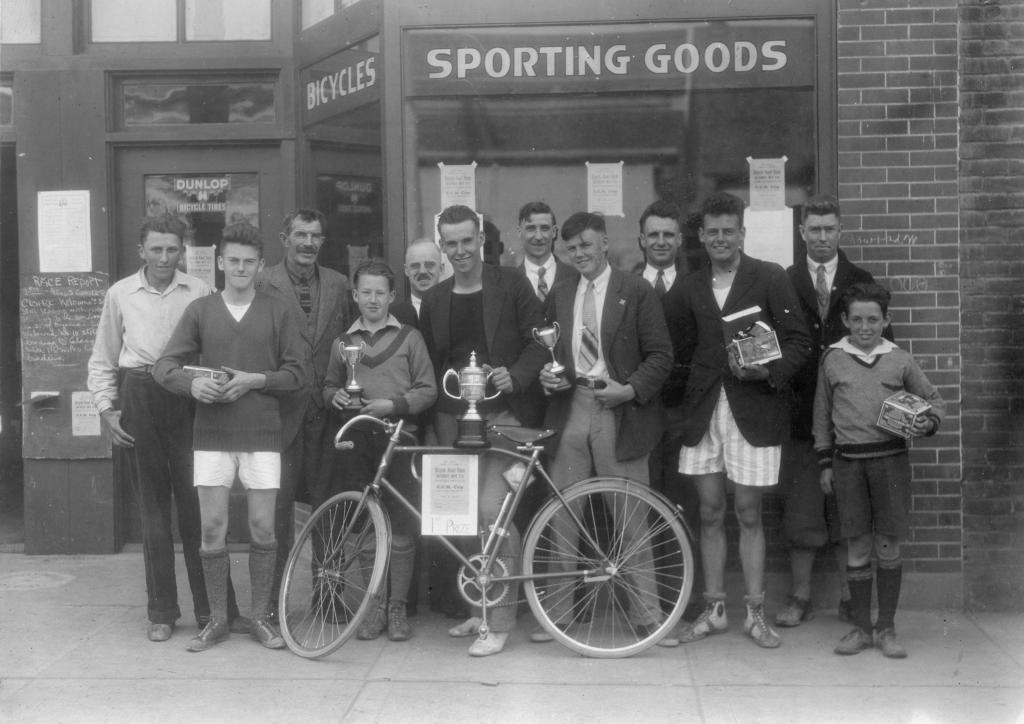 Winners of bicycle race