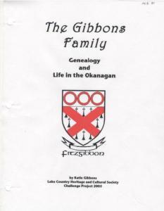 The Gibbons Family Genealogy