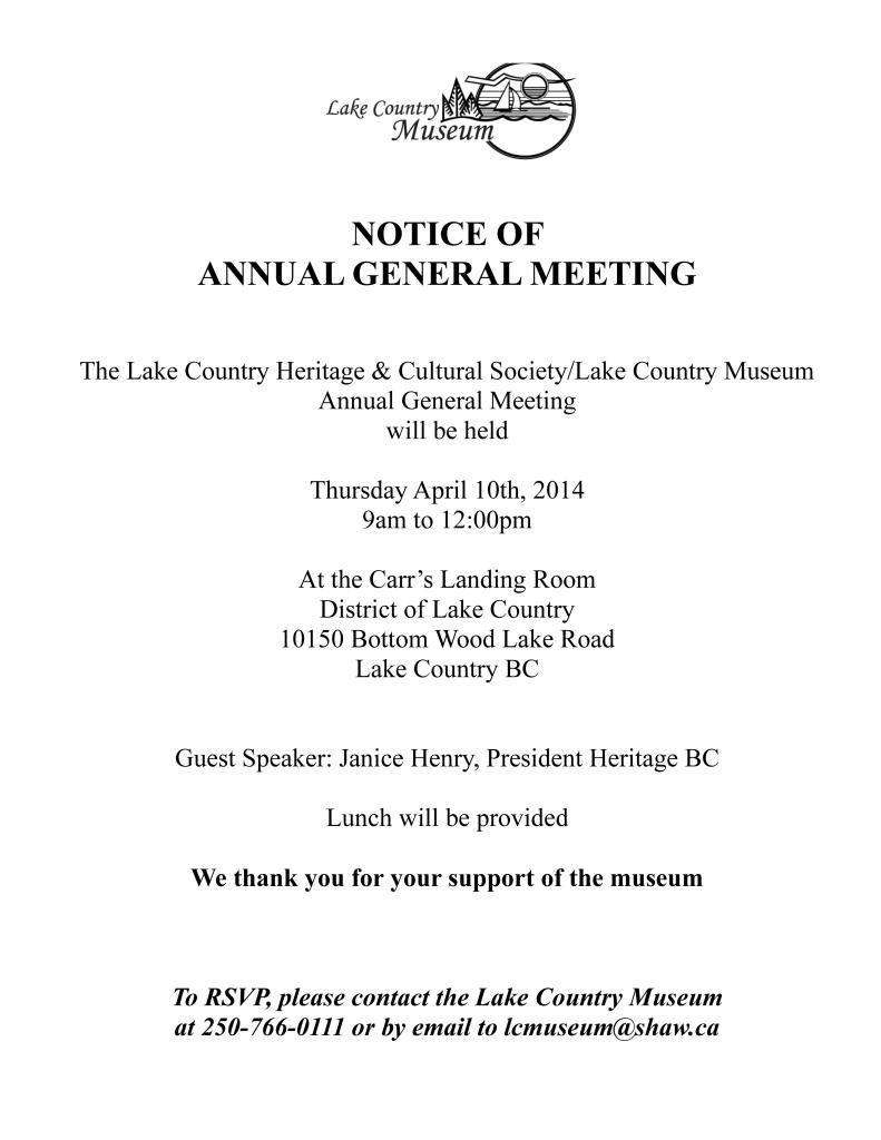 Invitation to AGM