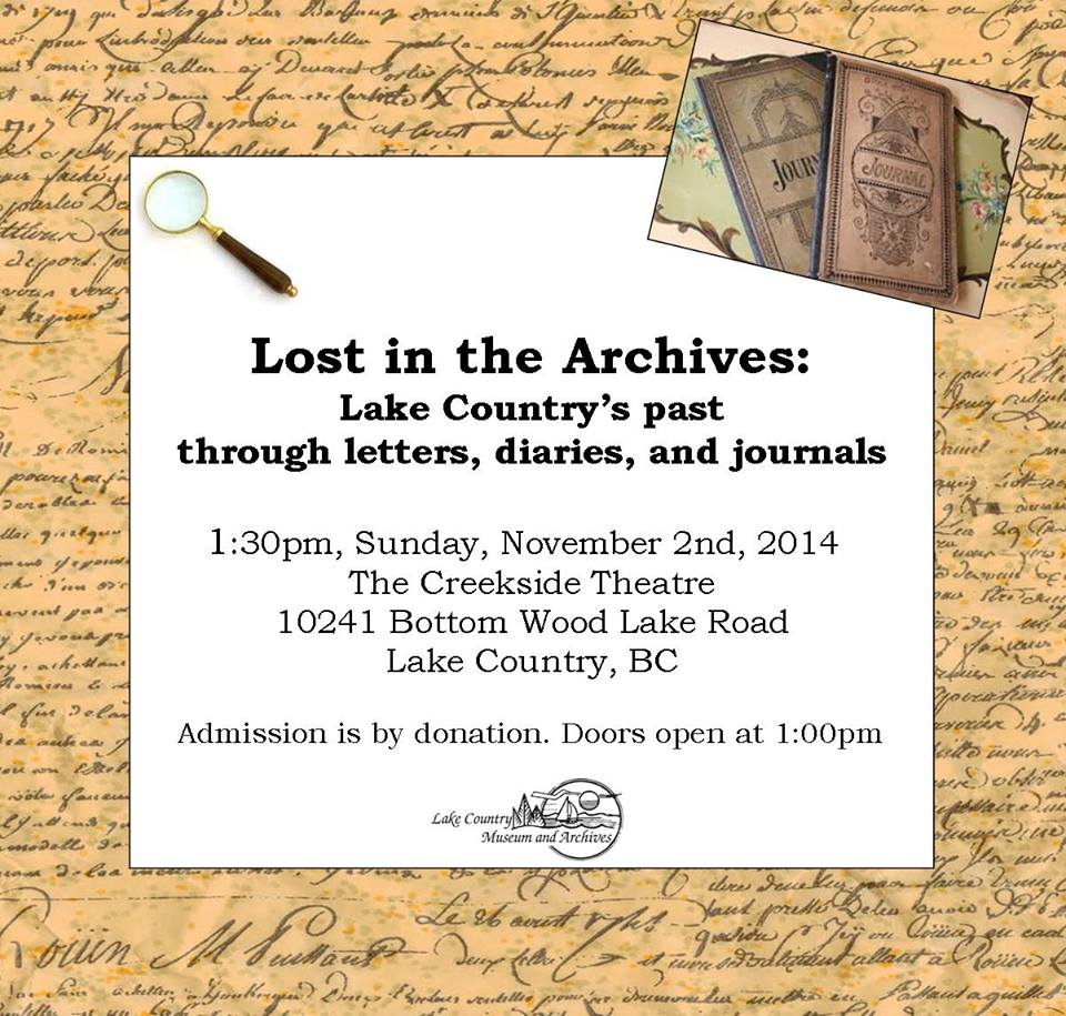 Public Lecture -- Lost in the Archives