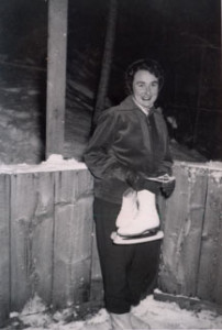 Elsie Nyffler at the Oyama skating rink