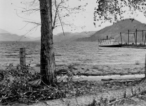 The York after WW1 doing barge duty on Skaha Lake. (Penticton Museum and Archives, 54538)