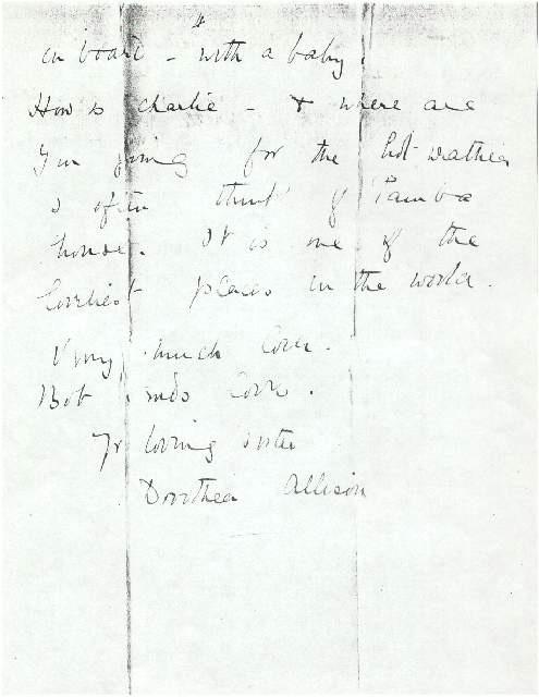 Dorothea Allison to Milborough Mackay, 9 March [1914]