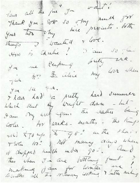 Dorothea Allison to Milborough Mackay, 24 August [1915]