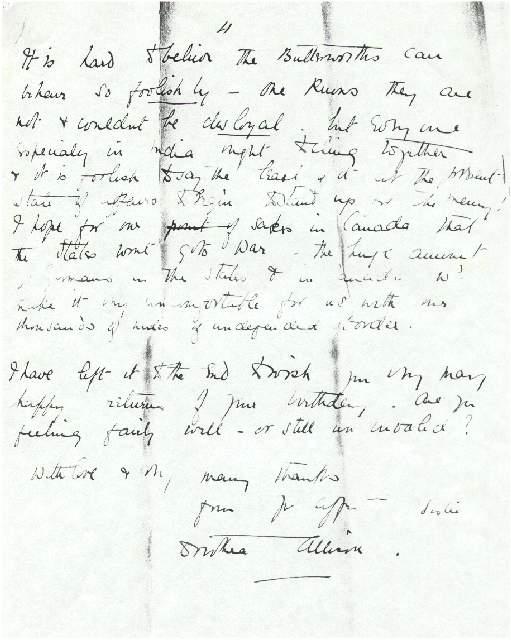 Dorothea Allison to Milborough Mackay, 25 September 1915