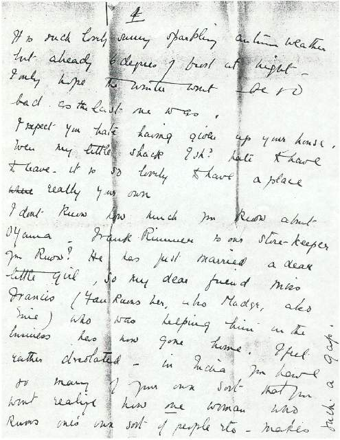 Dorothea Allison to Milborough Mackay, 7 October [1916]