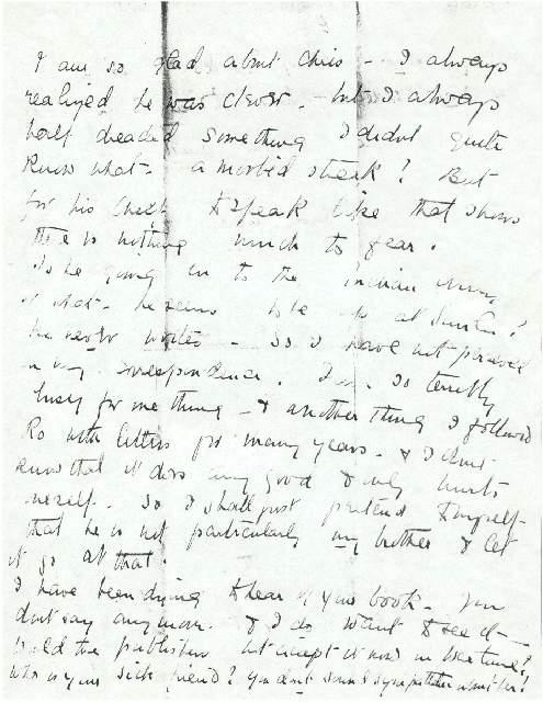 Letter from Dorothea Allison to Milborough Mackay, 2 December [1917]