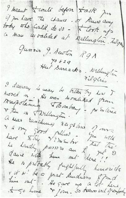 Dorothea Allison to Milborough Mackay 4 February [1917]