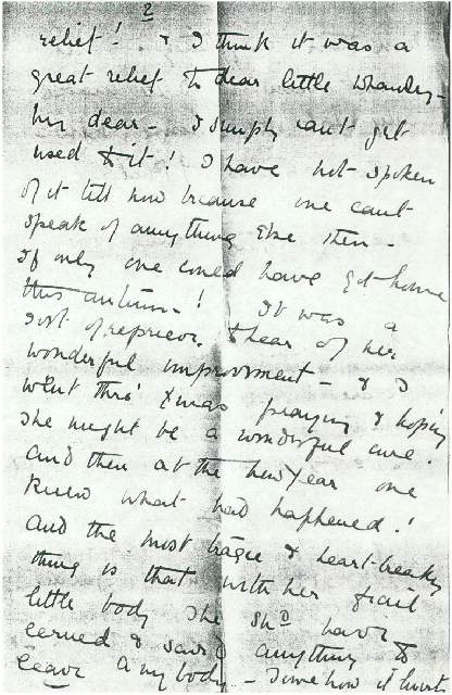 Dorothea Allison to Milborough Mackay, 5 January 1919