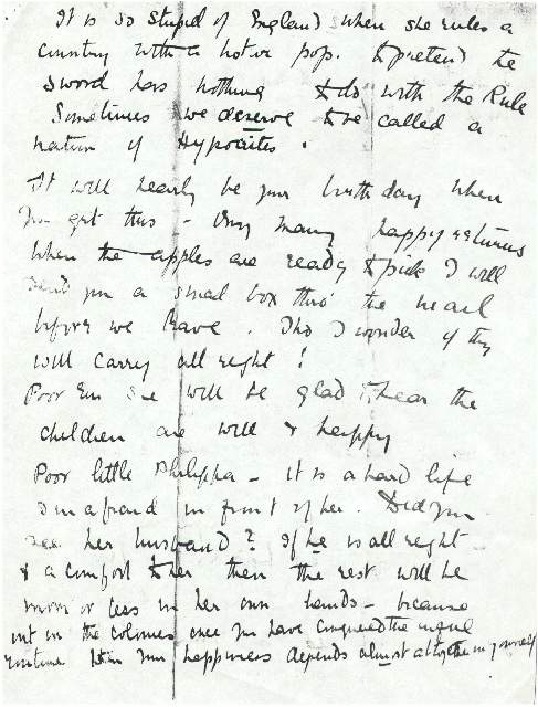 Dorothea Allison to Milborough Mackay, 8 August [1920],