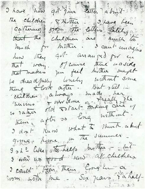 Dorothea Allison to Milborough Mackay, 21 March [1920],