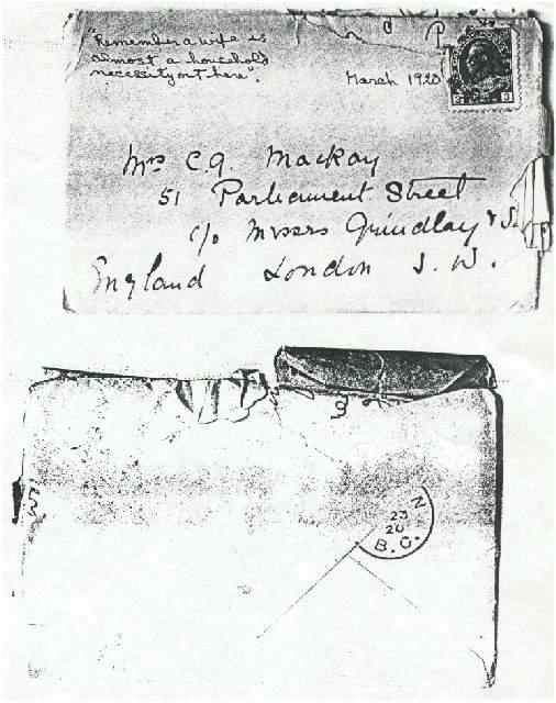Dorothea Allison to Milborough Mackay, 21 March [1920]