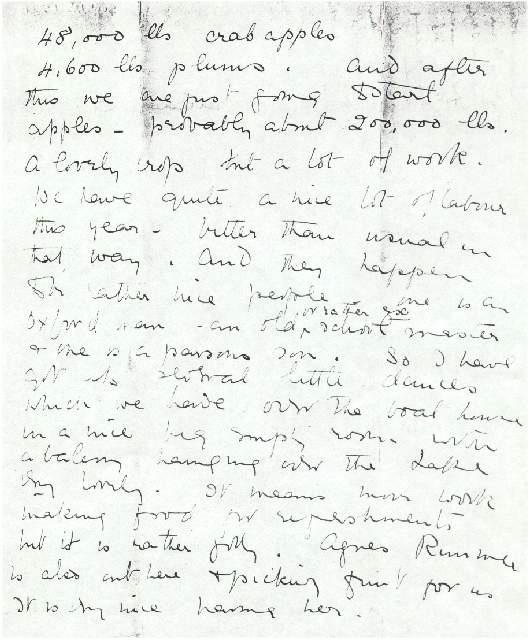 Dorothea Allison to Milborough Mackay, 9 September [1921].