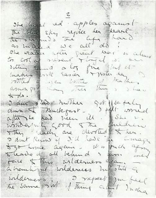 Dorothea Allison to Milborough, Mackay 9 September [1921], page 3.