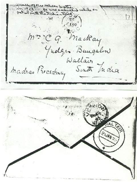 Dorothea Allison to Milborough Mackay 11 December 1922,