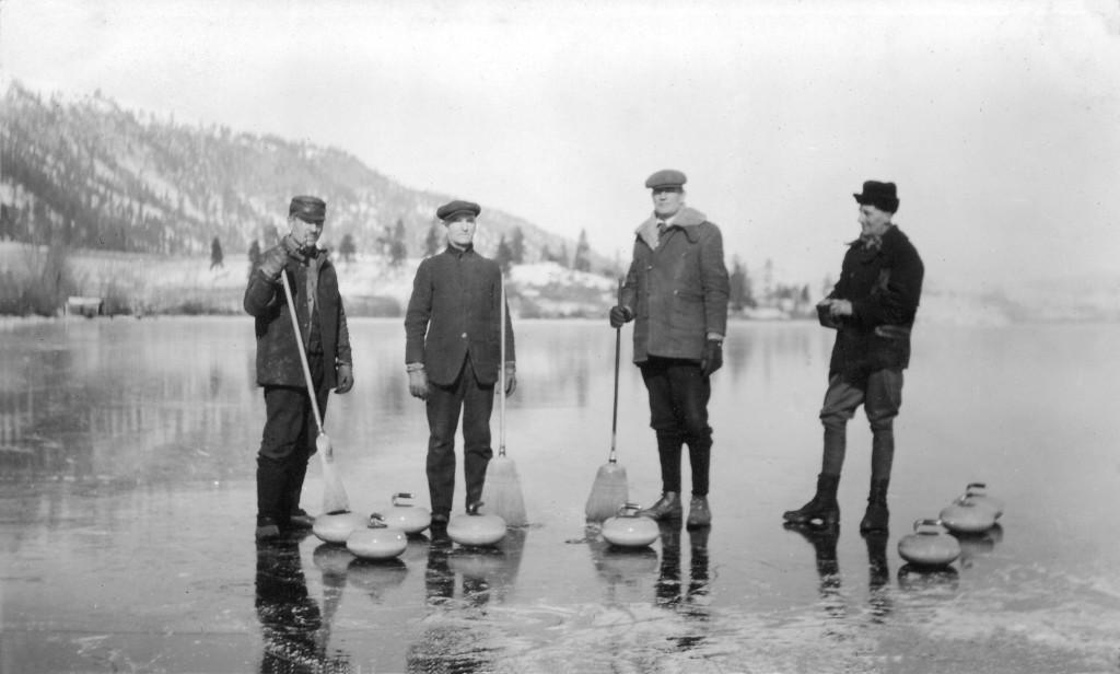 Curling on Kalamalka Lake
