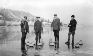 Curling on Kalamalka Lake