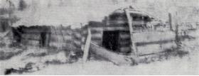 F. Ortoland's log cabin