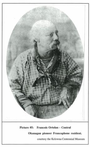 Early settler Francois Ortolan