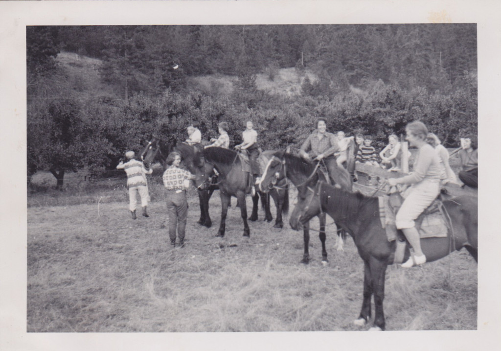Horseback riding campers