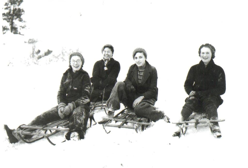 Left to right: Mary Carter, Meiko Kobayashi, Beryl Harrop and Doris Gleed.