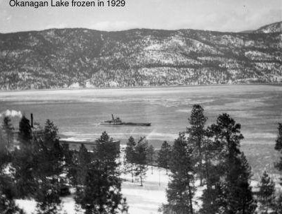 Frozen Okanagan Lake
