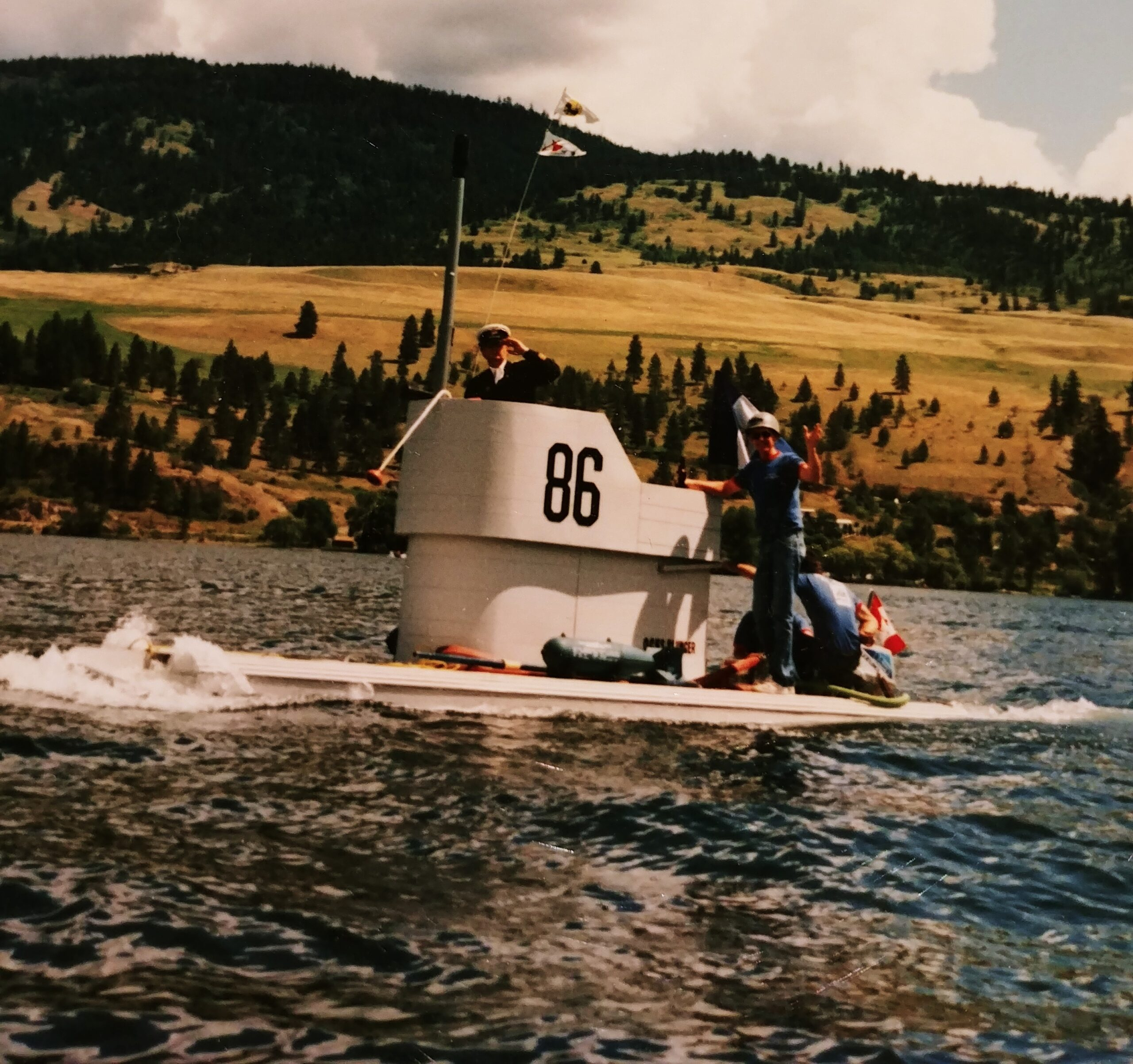 Submarine in action on Okanagan Lake